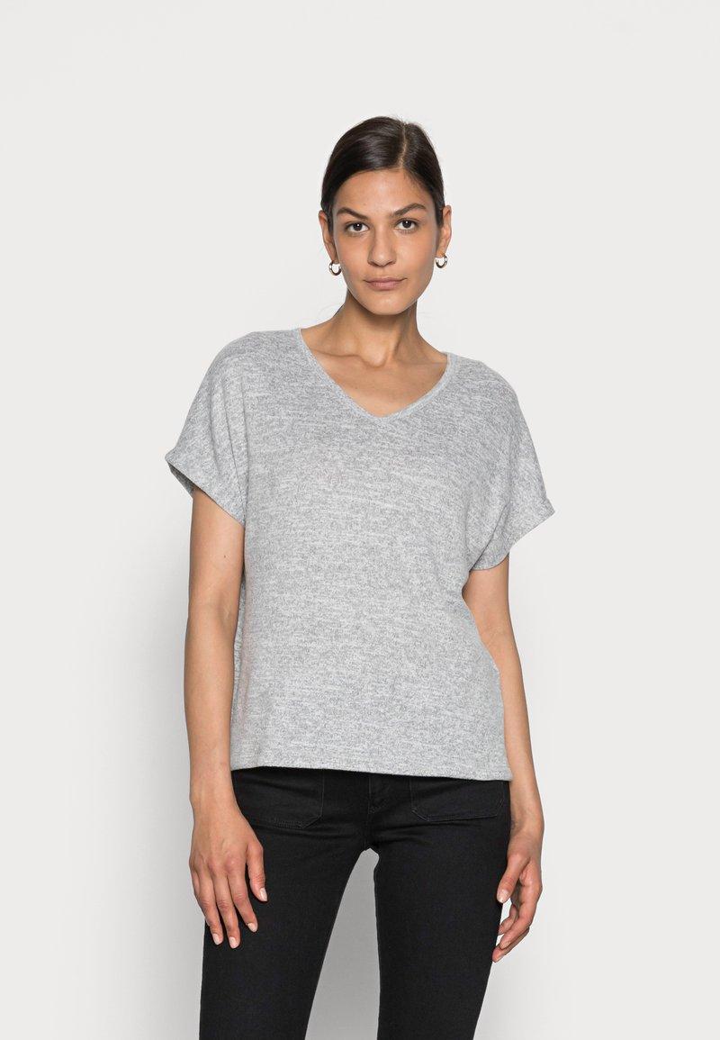 Opus - SABLET - Basic T-shirt - easy grey