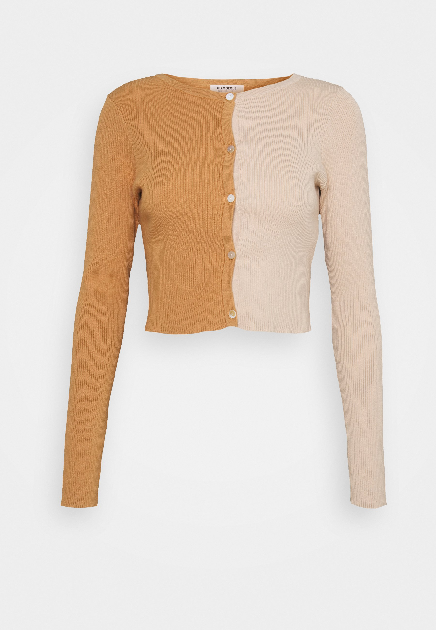 Mujer COLOUR BLOCKED CARDIGAN WITH LONG SLEEVES - Chaqueta de punto