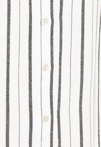 GAP Petite - SHIRRED - Button-down blouse - black white stripe - 5