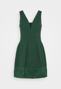 WAL G. - NADIA VPLUNGE NECK SKATER DRESS - Koktejlové šaty / šaty na párty - forest green - 5