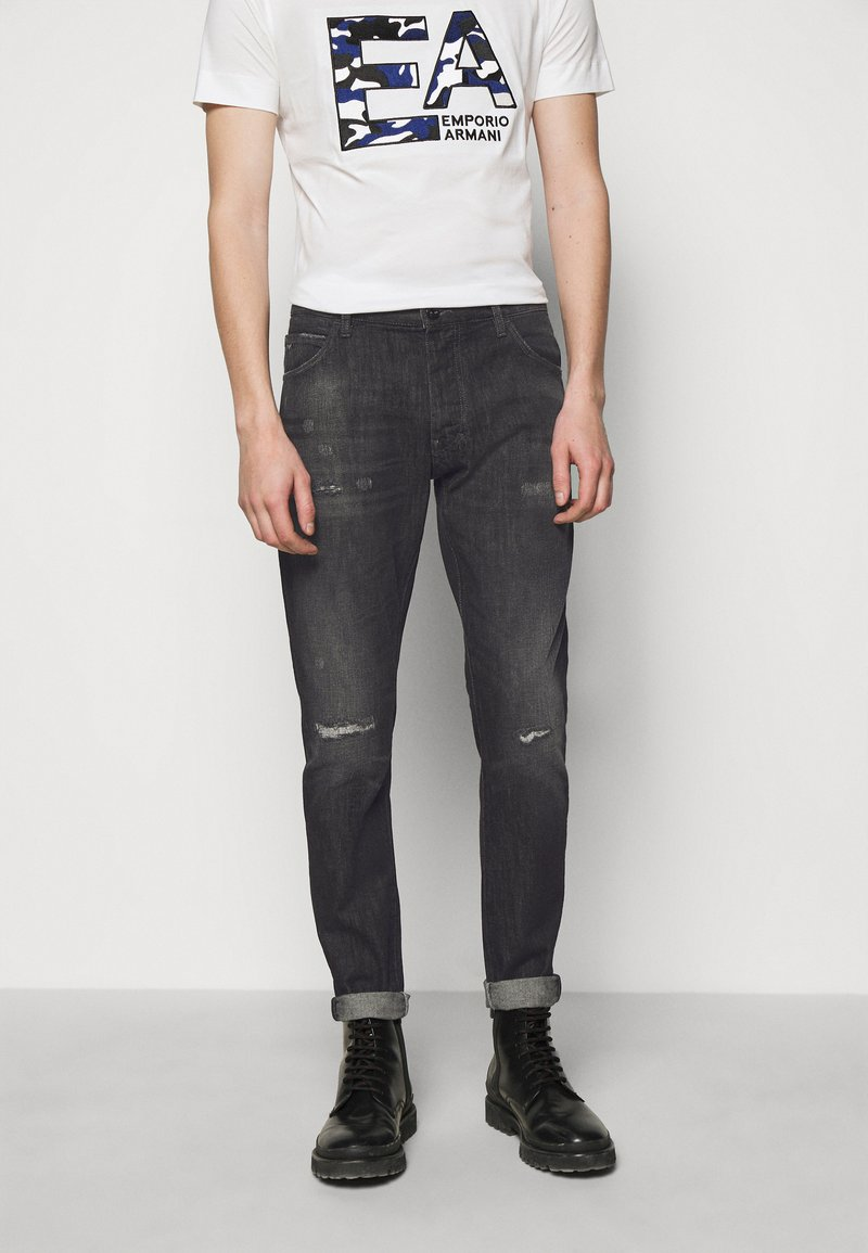 Emporio Armani - POCKETS PANT - Slim fit jeans - anthracite