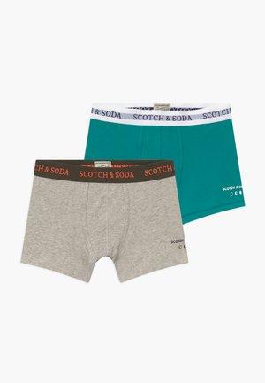BOXER 2 PACK - Pants -  grey/aqua