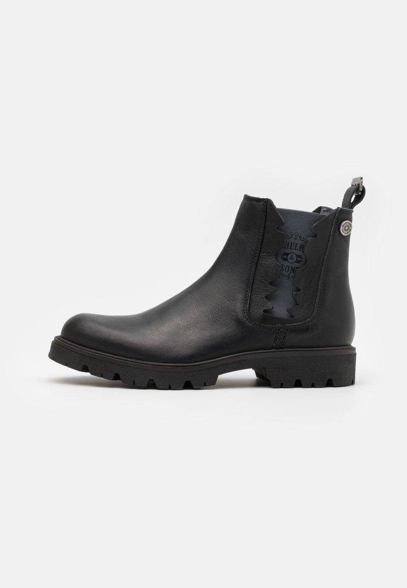 Shelby & Sons - RIDGACRE CHELSEA BOOT - Kovbojské/motorkářské boty - black