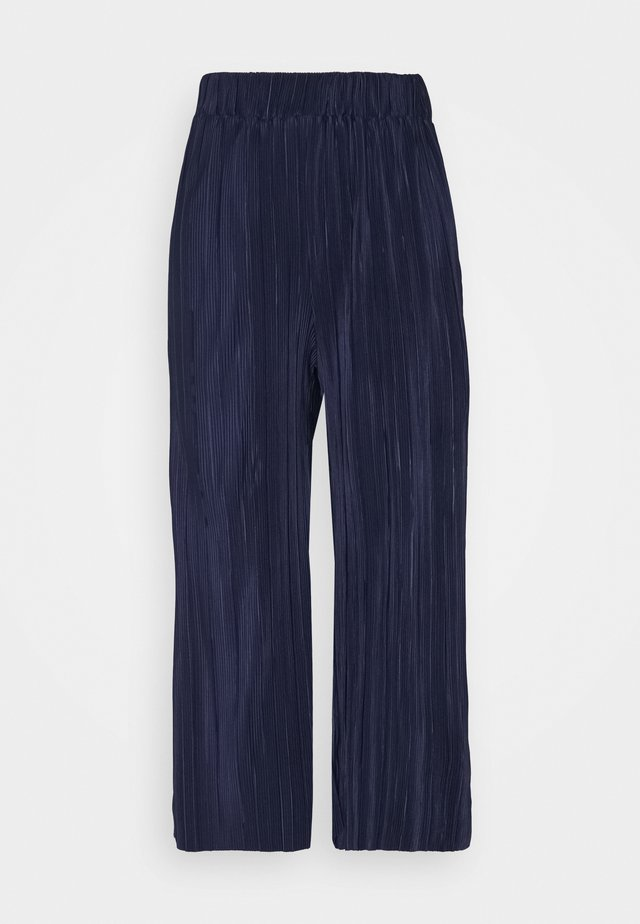 POPPY PLEATED CULOTTE - Trousers - navy blue