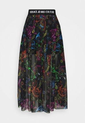 SKIRT - A-line skirt - black/multi