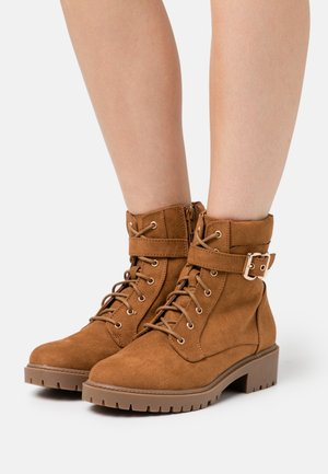MONA LACE UP BOOT - Lace-up ankle boots - tan
