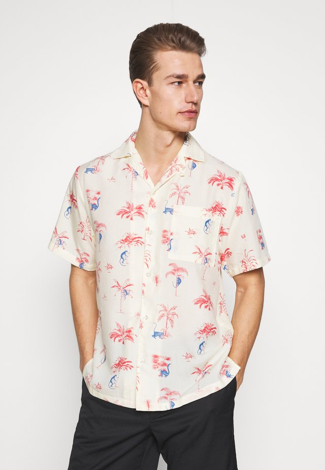 SHORT SLEEVE MARSTRAND MONKEY TREES - Skjorter - off white