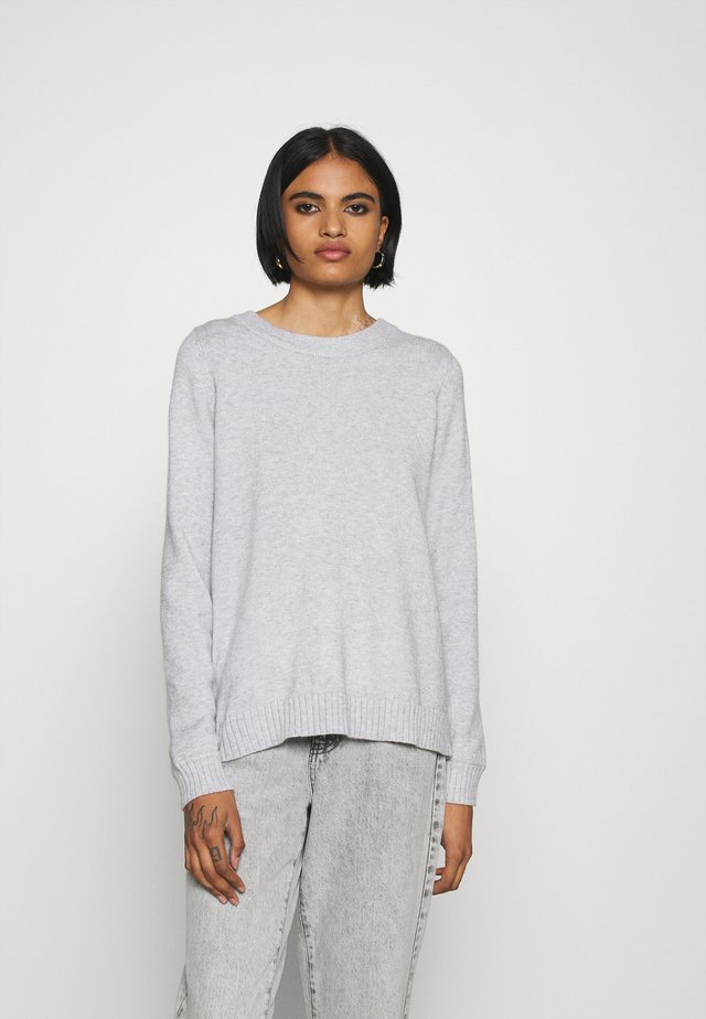 VIRIL OPEN BACK - Jumper - light grey melange