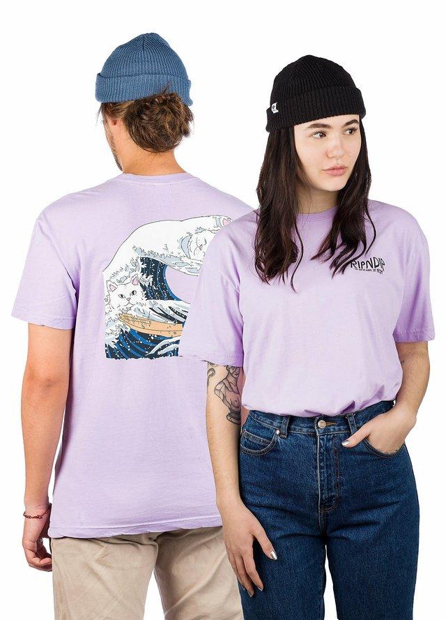 Print T-shirt - lavender