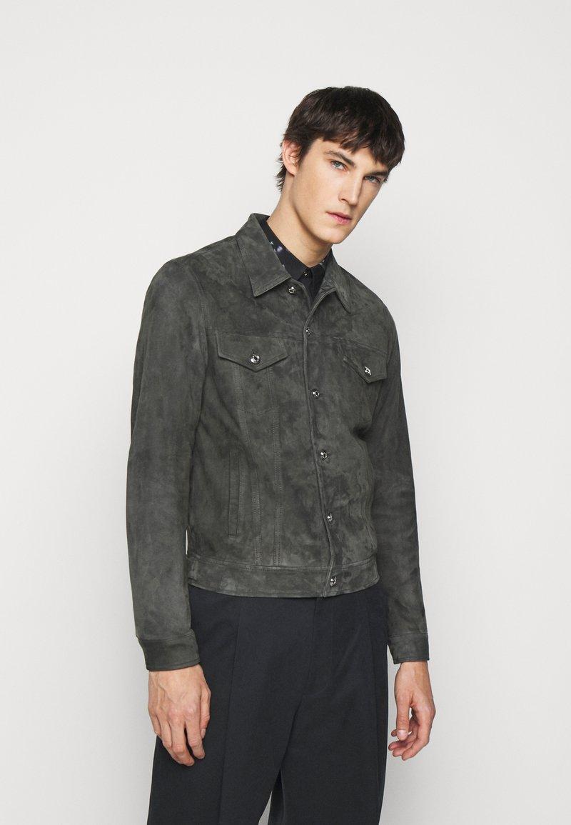 Paul Smith - GENTS - Kožená bunda - dark grey