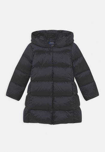 LONG OUTERWEAR COAT - Down coat - collection navy