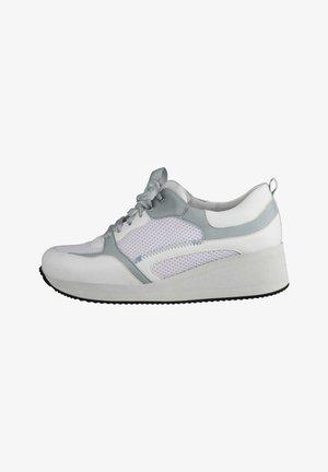 Sneakers laag - hellblau weiss