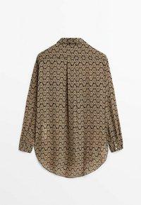 Massimo Dutti - Button-down blouse - beige - 5
