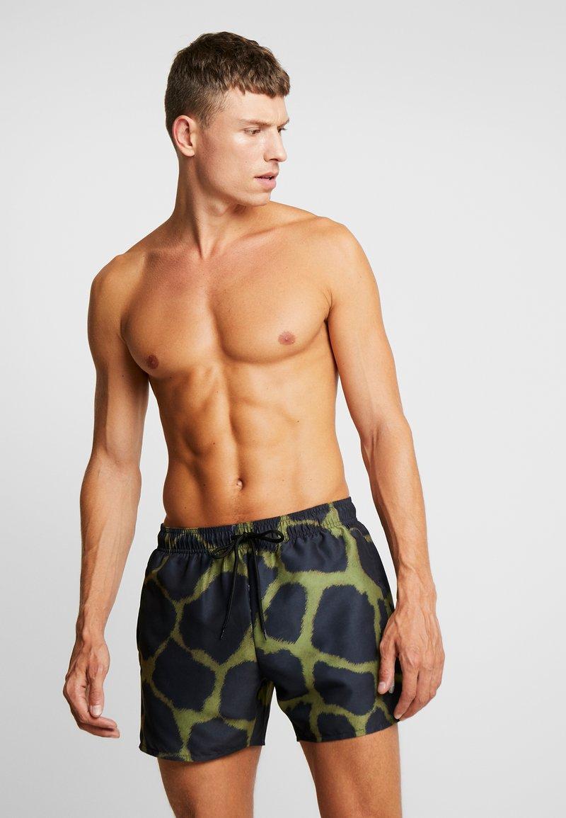 Topman - GIRAFFE SWIM - Shorts da mare - khaki/black