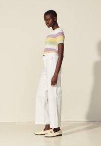 sandro - Straight leg jeans - blanc - 1