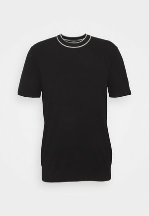 GORIS TEE - Basic T-shirt - black/plush