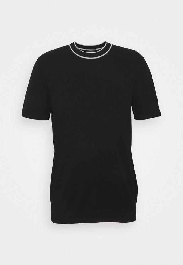 GORIS TEE - Basic T-shirt - black/plush