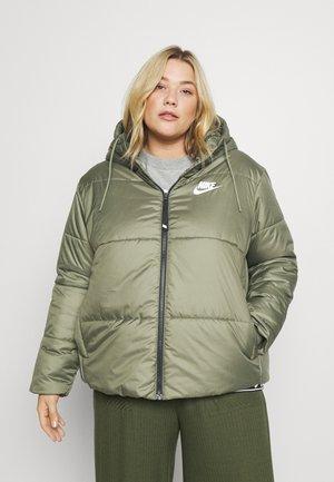 CLASSIC TAPE - Winter jacket - medium olive/black/white