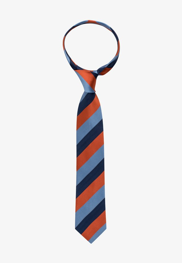 Tie - terracotta/blau