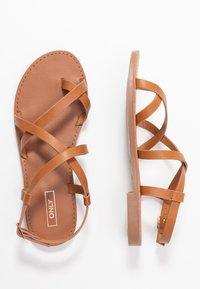ONLY SHOES - ONLMANDALA CROSSOVER  - T-bar sandals - cognac - 3