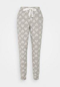 Hunkemöller - PANT HEART - Pyjama bottoms - grey melee - 0