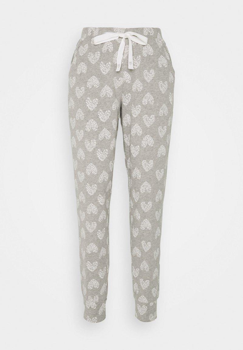 Hunkemöller - PANT HEART - Pyjama bottoms - grey melee