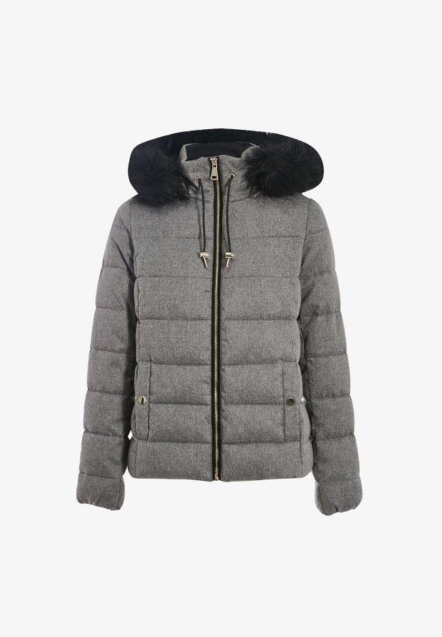 Gewatteerde jas - gris clair