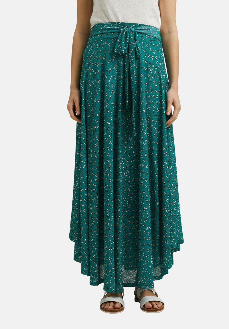 Esprit - Maxi skirt - teal green