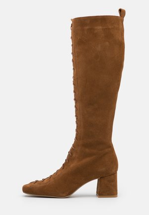 Snørestøvler - cognac