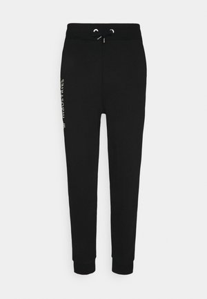 BASIC JOGGER FOIL PRINT - Tracksuit bottoms - black