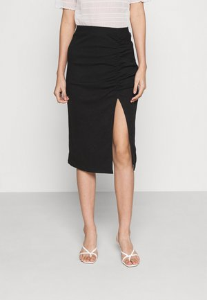 ONLMAYA ROUCHING SKIRT  - Pencil skirt - black