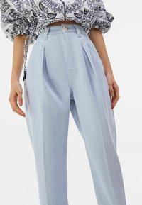 Bershka - Trousers - light blue - 3