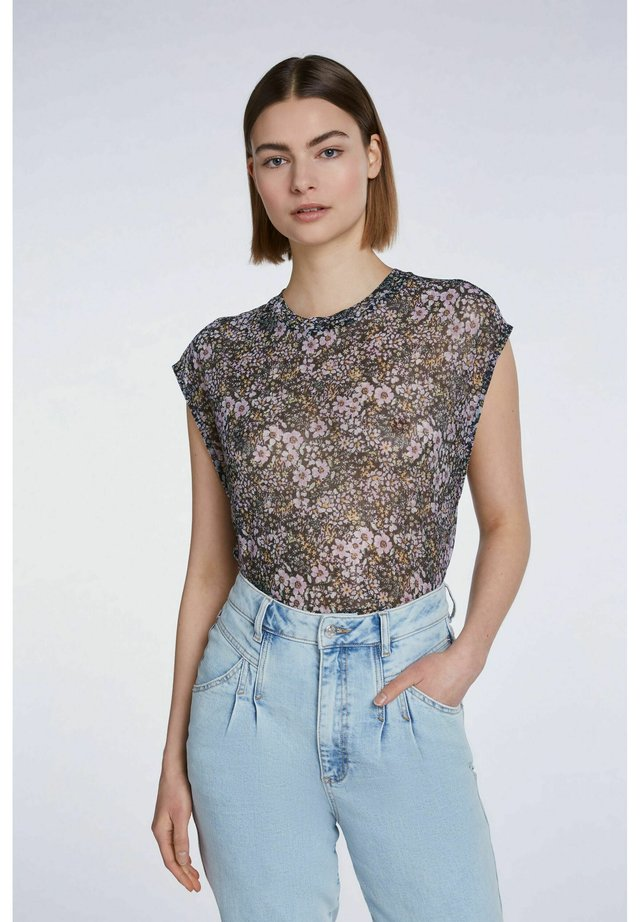 T-Shirt print - black violett