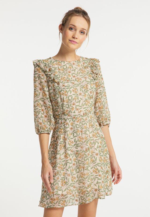 Sukienka letnia - weiss blumen