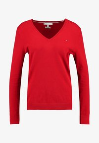 Tommy Hilfiger - HERITAGE V NECK  - Sweter - apple red - 3