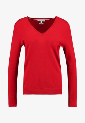 HERITAGE V NECK  - Strikpullover /Striktrøjer - apple red