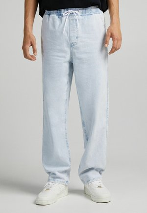 WIDE JOGGER - Relaxed fit -farkut - light blue
