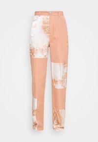 PAISLEY PATCH DETAIL TROUSER - Trousers - peach