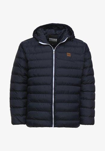 BASIC BUBBLE JACKET - Winter jacket - navy/white/navy