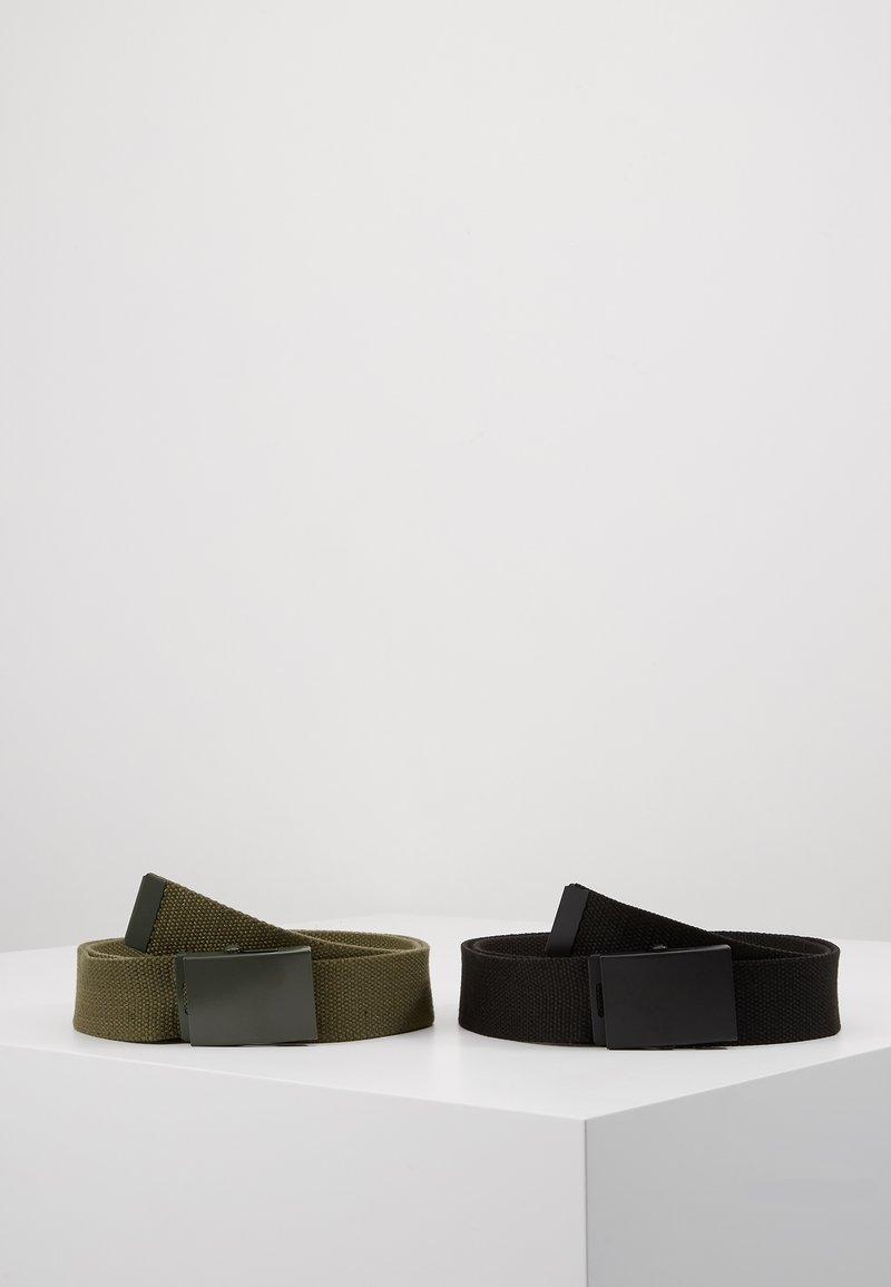 Pier One - UNISEX 2 PACK - Belt - oliv/black