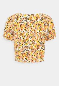 Vila - VIMIE - Print T-shirt - cloud dancer/orange - 1