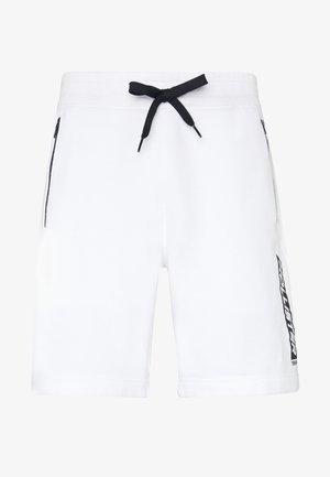 SPORT PRINT LOGO - Tracksuit bottoms - white