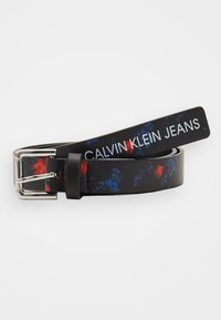 Calvin Klein Jeans - DIGITAL FLOWER BELT - Pásek - black - 1