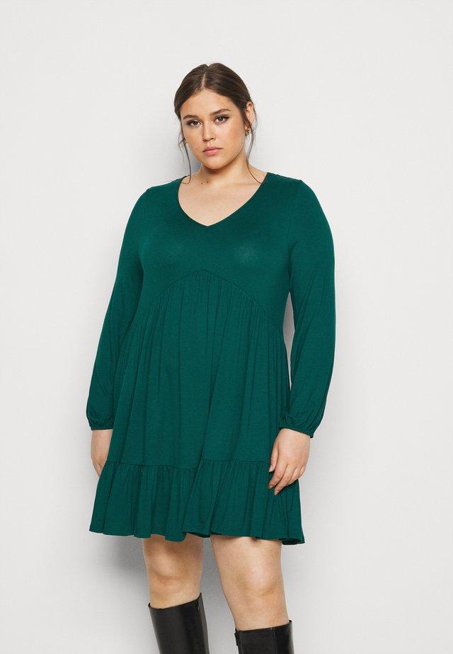 FRILL HEM DRESS - Trikoomekko - green