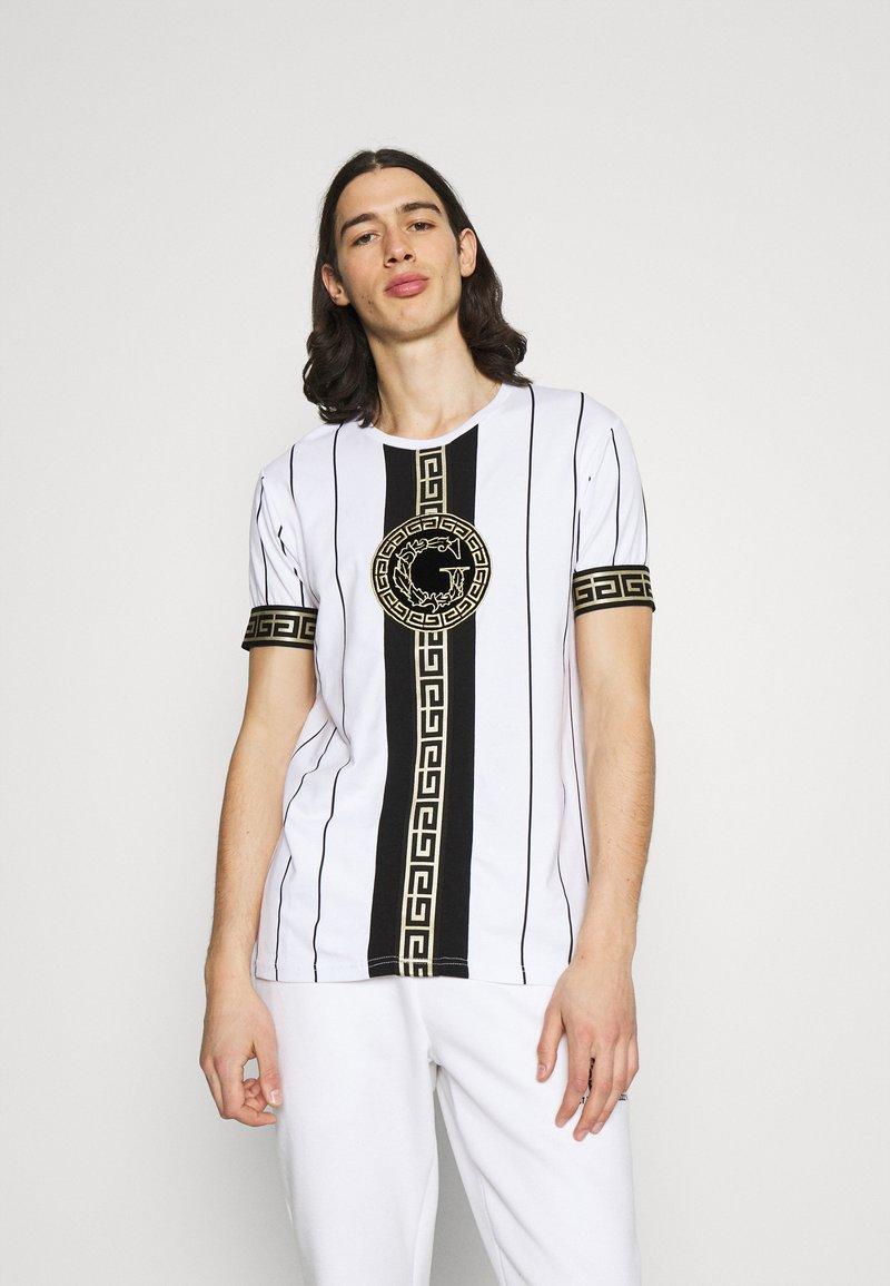 Glorious Gangsta - SANTAGO TEE - Print T-shirt - optic white