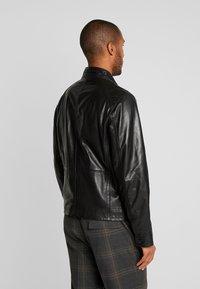 Strellson - FLAG - Leather jacket - black - 2