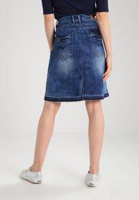 Cream - A-line skirt - rich blue denim - 2