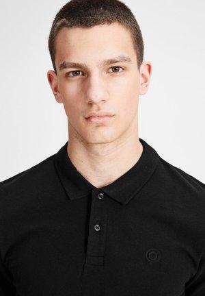 Polo shirt - white/grey/black