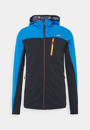 MAN FIX HOOD HYBRID JACKET - Giacca outdoor - antracite/blue