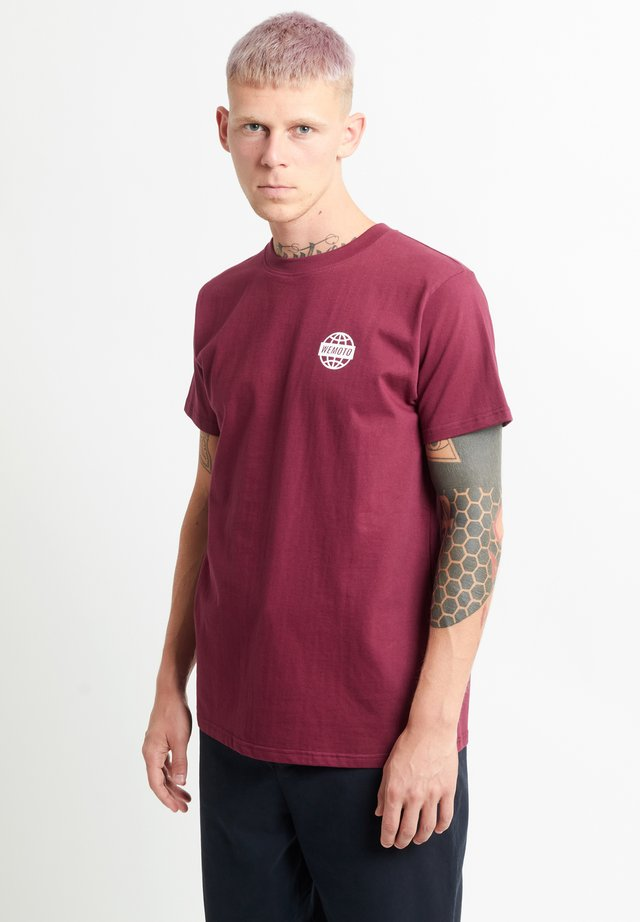 WORLD TEE - T-shirt print - burgundy